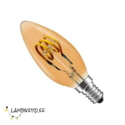 LED filament 3W 2200K 100lm E14 candle DIM